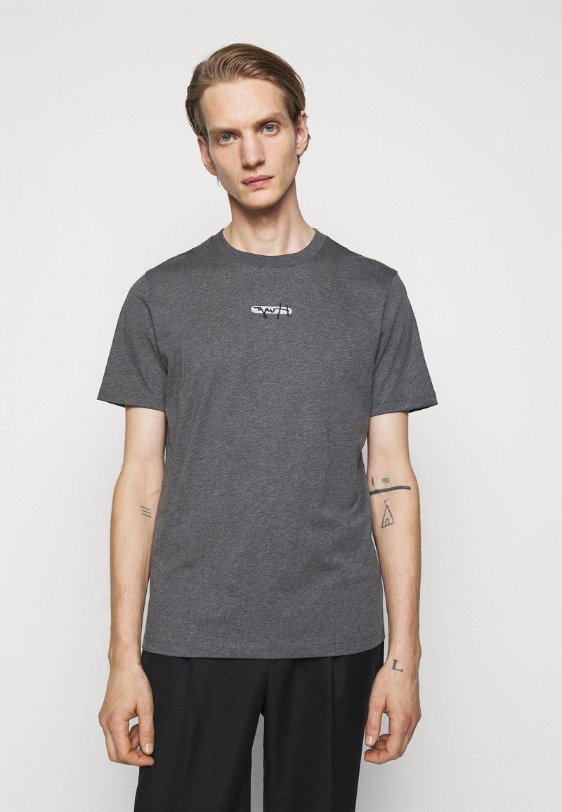 HUGO - DURNED - Print T-shirt - medium grey