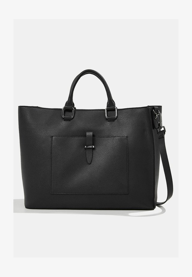 IN LEDER-OPTIK - Tote bag - black