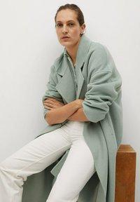 Mango - PICAROL - Klasyczny płaszcz - vert menthe - 6