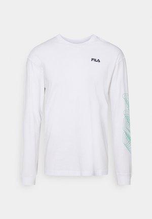 ALVARO LONG SLEEVE TEE - Långärmad tröja - bright white