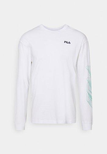 ALVARO LONG SLEEVE TEE - Long sleeved top - bright white