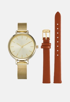 SET - Watch - cognac/gold-coloured