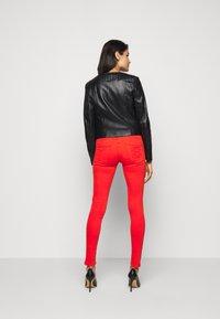 Patrizia Pepe - REAL JACKET - Leather jacket - nero - 2