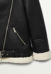 Mango - ADRI-I - Faux leather jacket - black - 8