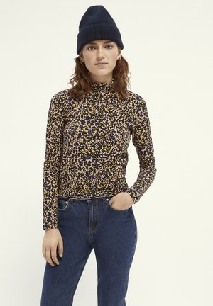 PINTED WITH HIGH NECK - Long sleeved top - Multi coloured