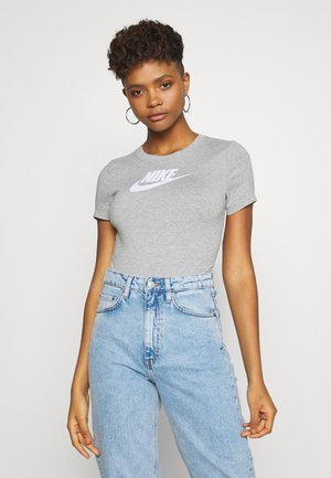BODYSUIT - T-shirt imprimé - grey heather/white