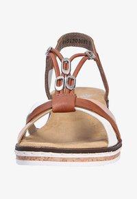 Rieker - Sandals - biancocognacskin (81) - 1