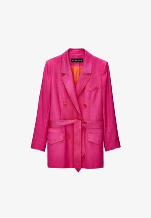 MIT GÜRTEL  - Blazer - pink