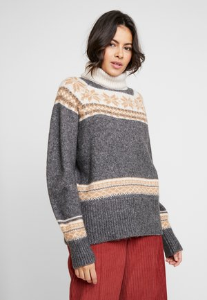 Jersey de punto - mid grey/cream/snow