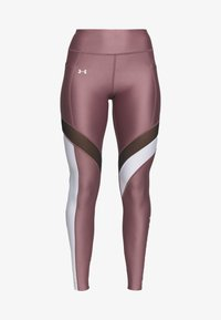 UA HG ARMOUR SPORT LEGGINGS - Leggings - hushed pink/white/metallic silver