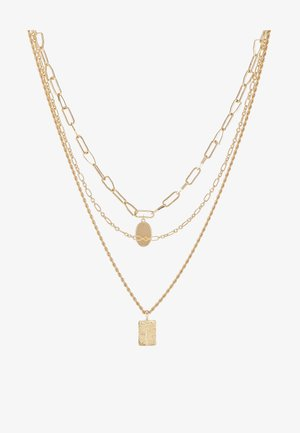 PCNAMO COMBI NECKLACE - Halskæder - gold-coloured