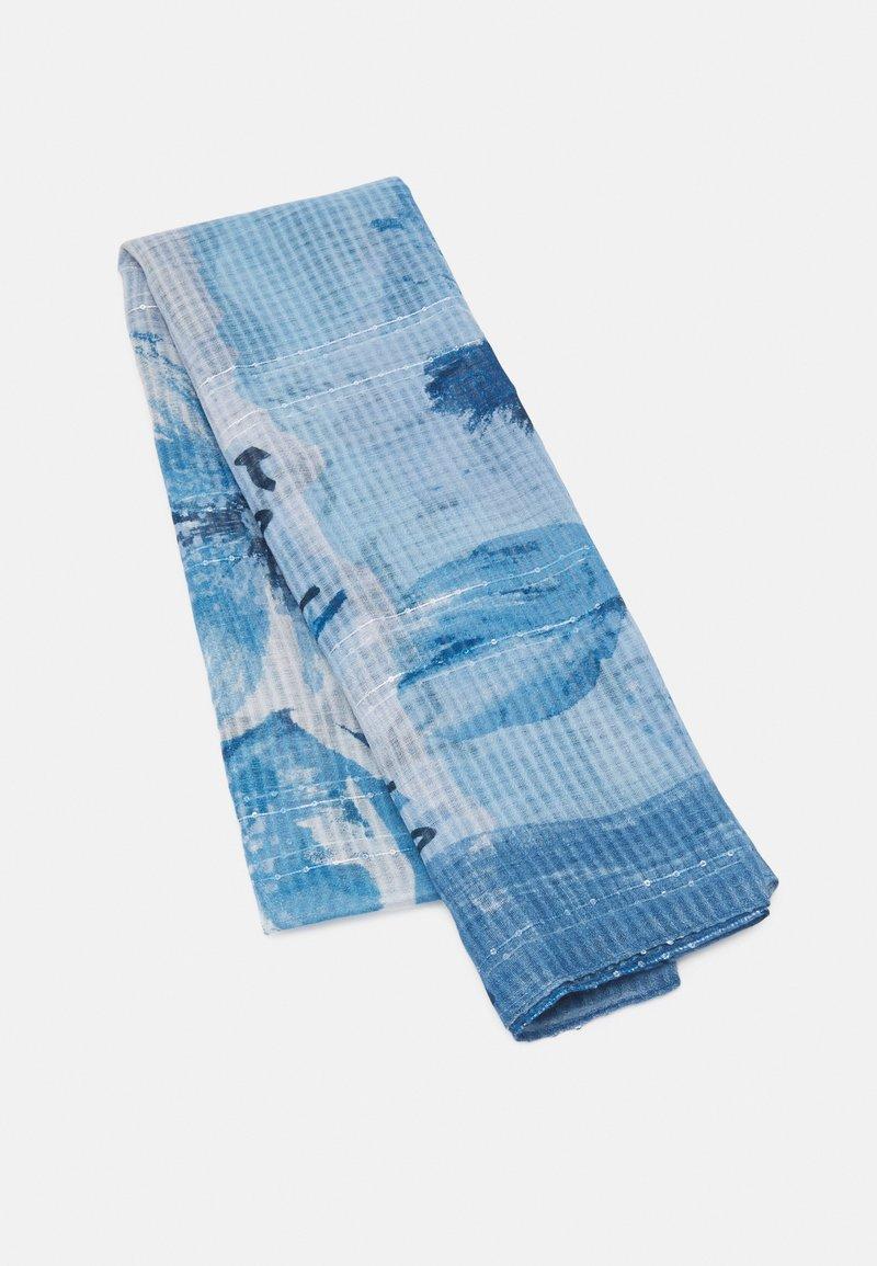 Desigual - FOU ART PICTURE - Scarf - azul tinieblas