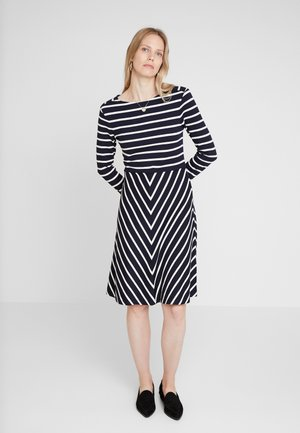 STRIPED DRESS - Jersey dress - marine