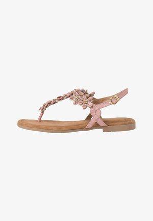 T-bar sandals - rose comb
