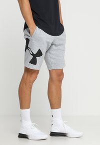 Under Armour - RIVAL LOGO SHORT - Urheilushortsit - steel light heather/black - 0