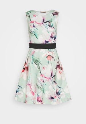 Jersey dress - light green/pink