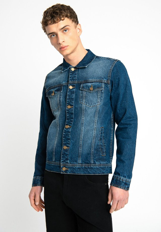 LDN DNM STONE WASHED INDIGO DENIM TRUCKER JACKET - Spijkerjas - blue