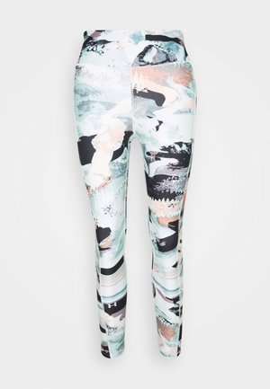 PRINT ANKLE CROP - Tights - seaglass blue