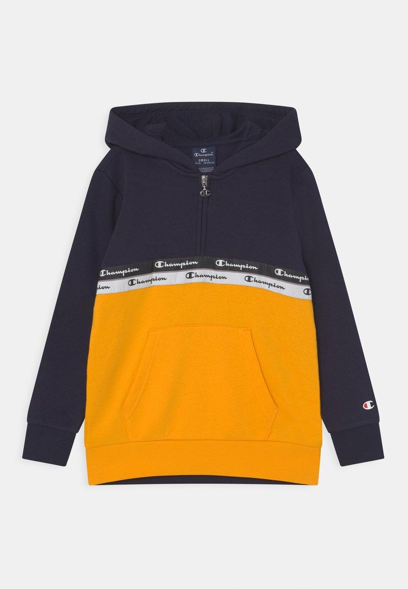 Champion - AMERICAN TAPE HOODED HALF ZIP UNISEX - Sweatshirt - dark blue