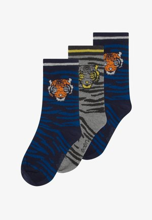 KINDERSÖCKCHEN TIGER 3 PACK - Socks - navy/grau