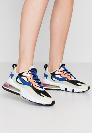 AIR MAX 270 REACT - Matalavartiset tennarit - fossil/hyper blue/black/pistachio frost/fire pink/hyper crimson