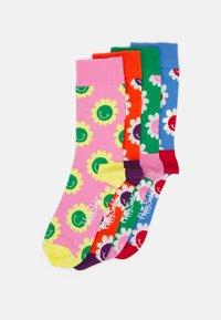 Happy Socks - SMILING FLOWERS 4 PACK UNISEX - Socks - multi - 0