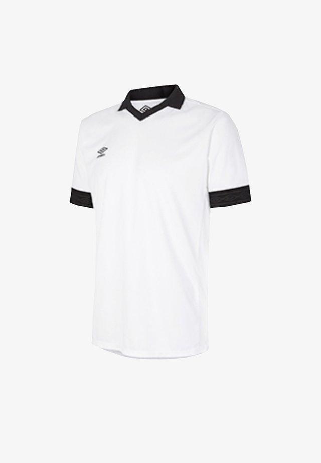 Print T-shirt - weissschwarz