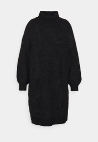 Noisy May Curve - NMROBINA HIGH NECK DRESS  - Jumper dress - dark grey melange - 5