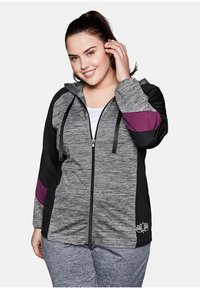 Sheego - Zip-up hoodie - heather gray - 0