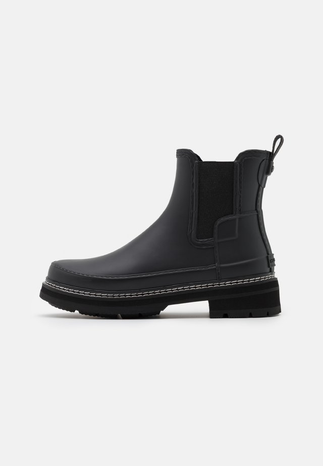 REFINED STITCH DETAIL CHELSEA BOOTS VEGAN - Wellies - Gummistøvler - black