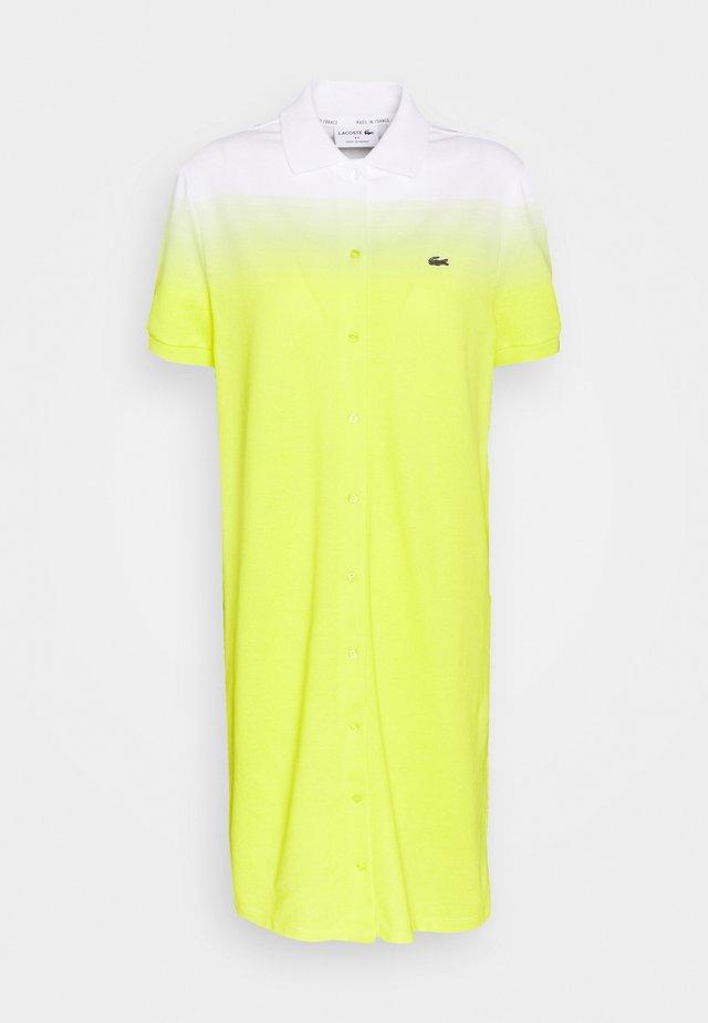 Day dress - lemon tree/subal white