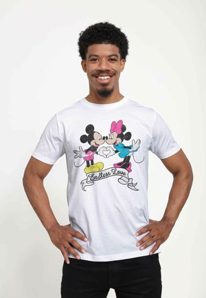 DISNEY CLASSICS UNISEX ENDLESS LOVE MICKEY MOUSE AND MINNIE MOUSE - T-shirt print - white