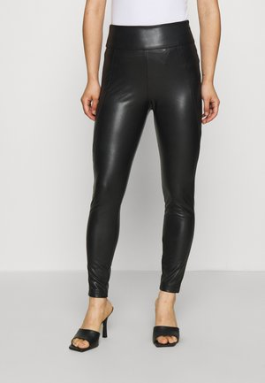 VINNIS COATED  - Leggings - Trousers - black
