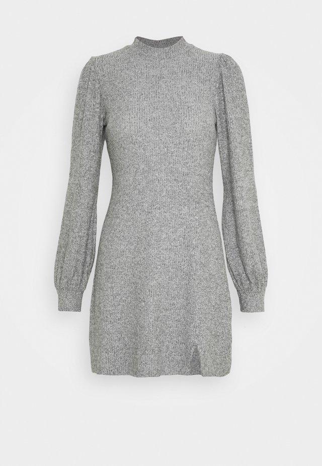 COZY SHORT DRESS - Jumper dress - grey