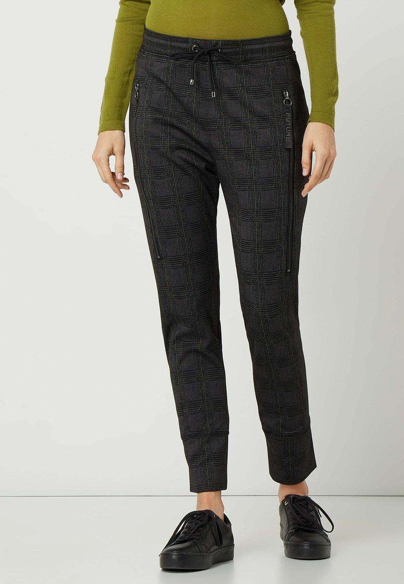 MAC Jeans - GLENCHECK MODELL 'FURTURE 2.0' - Trousers - dunkelgrau