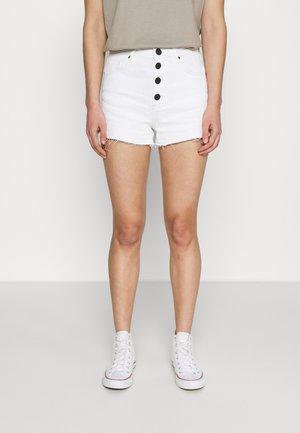 CATO SOLID - Shorts di jeans - white denim