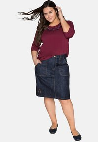 Sheego - Denim skirt - dark blue denim - 1