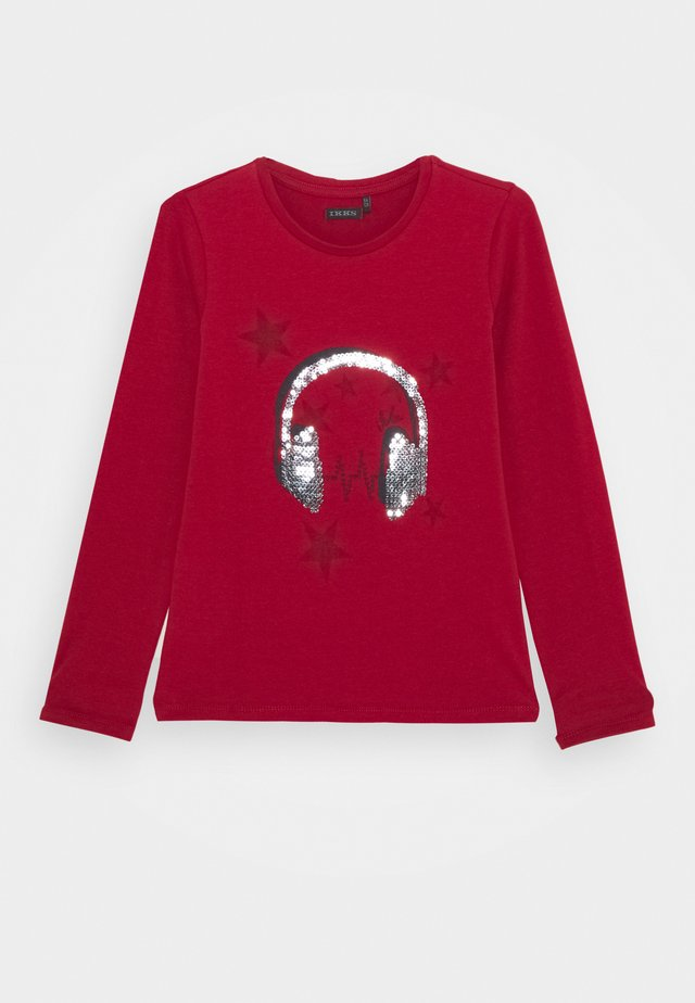 EMBELLISHED HEAD PHONES PRINT  - Long sleeved top - rouge foncé