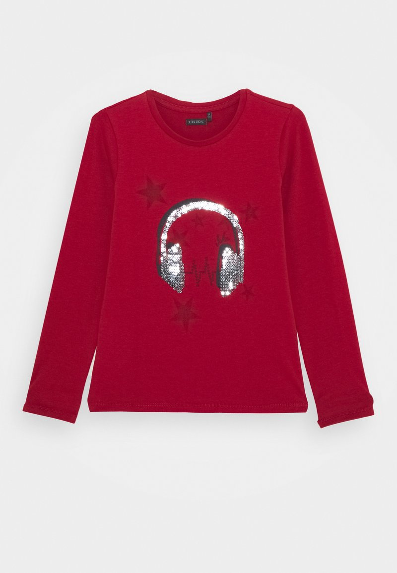IKKS - EMBELLISHED HEAD PHONES PRINT  - T-shirt à manches longues - rouge foncé