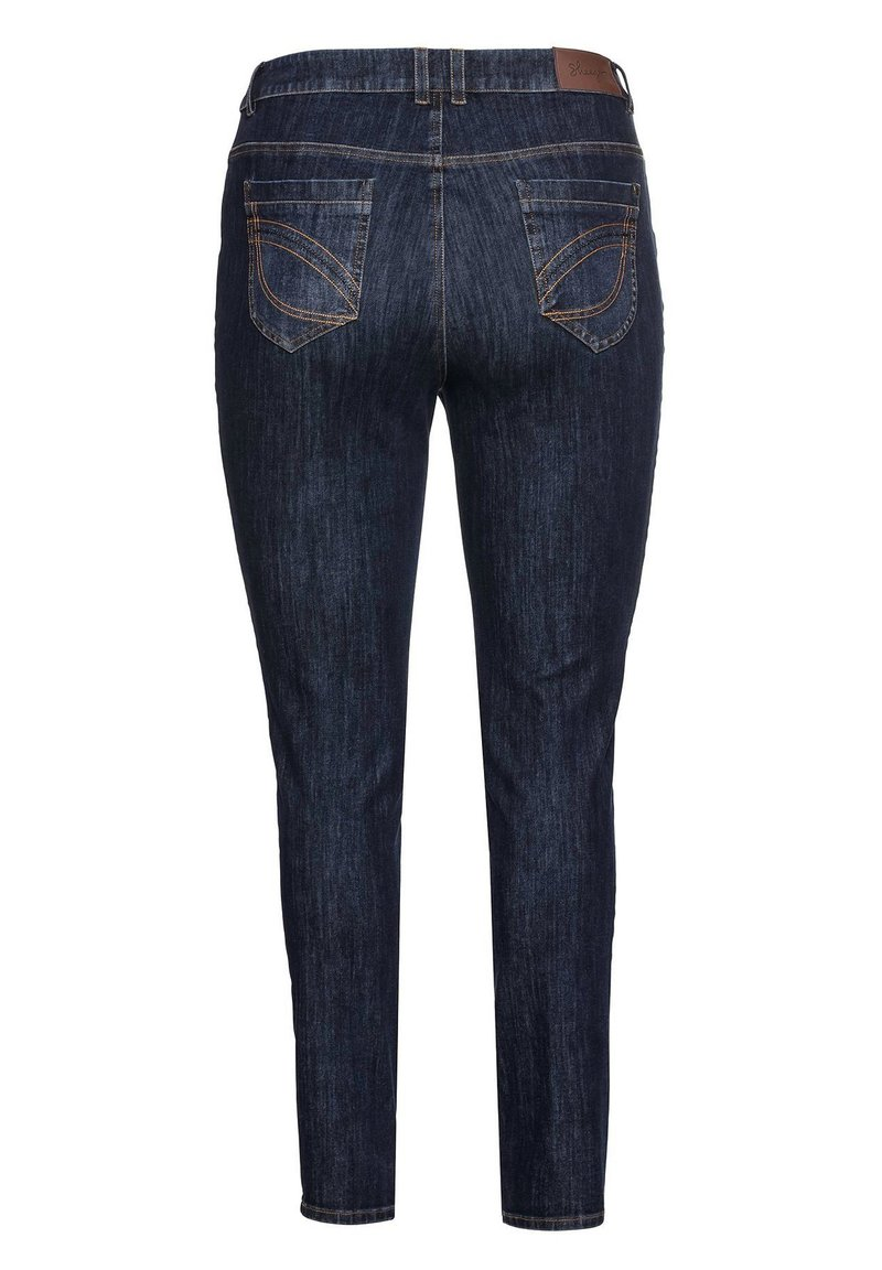Sheego Jeans Skinny Fit - dark blue denim/dark-blue denim mTWTEG