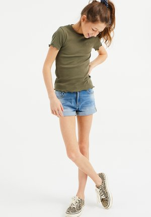 SLIM FIT  - T-shirt basic - army green