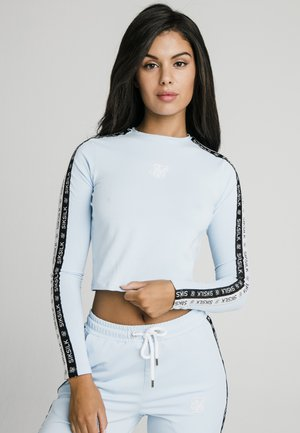 SKY TAPE CROP TEE - Long sleeved top - light blue