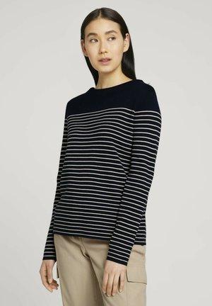 Jumper - navy sand stripe