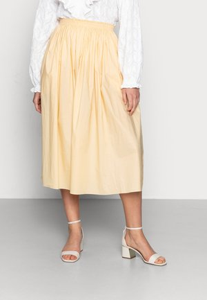 SKIRT - A-line skirt - light yellow