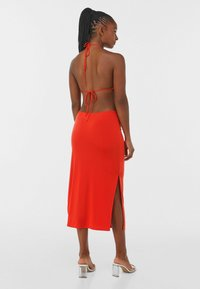 Bershka - WITH CUT-OUT AND OPEN BACK  - Cocktail dress / Party dress - red - 1