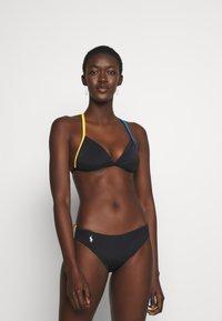 Polo Ralph Lauren - PLUNGE HALTER BRA - Bikini top - black - 1