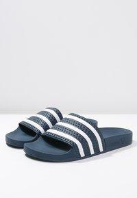adidas Originals - ADILETTE - Pool slides - blue/white - 2