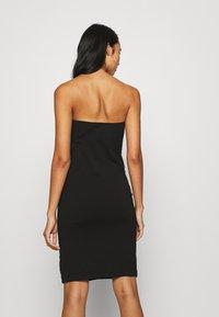 KENDALL + KYLIE - TUBE MINI DRESS - Shift dress - black - 2