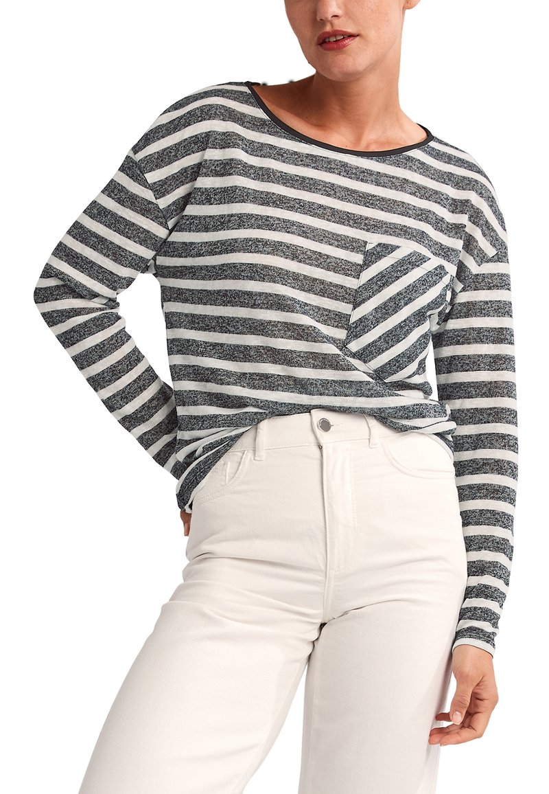 comma casual identity - Long sleeved top - black stripes