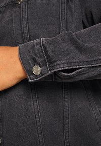 Missguided Plus - OVERSIZED JACKET - Džínová bunda - black - 5